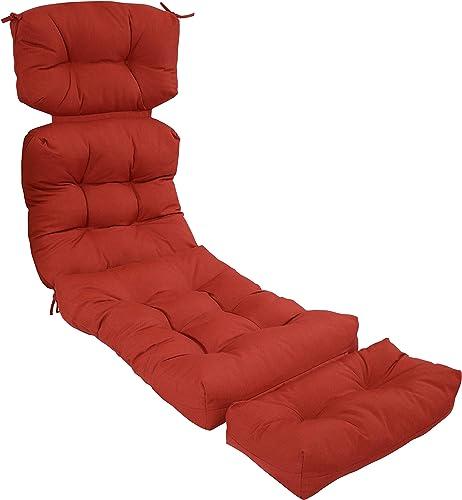 Cheap Sunnydaze Olefin Tufted Outdoor Chaise Lounge Chair Cushion outdoor chair cushion for sale