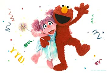 Amazoncom Sesame Street Elmo  Abby Cadabby Birthday  Edible - Elmo and abby birthday cake