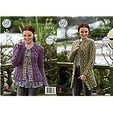 03059eef8 King Cole Ladies Super Chunky Knitting Pattern Womens Raglan Sleeve Cardigan    Coatigan (4610)