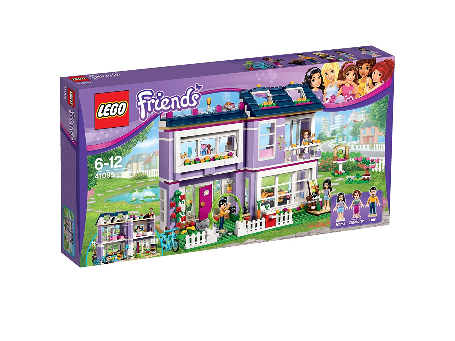 Amazon.com: LEGO Friends Casa Emma diseño de la 41 095: Toys ...