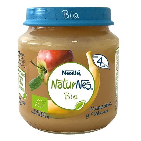 Nestlé Naturnes Bio - Puré de Manzana, Plátano y Pera - Puré Para bebés - Paquete de 6x120g: Amazon.es: Alimentación y bebidas