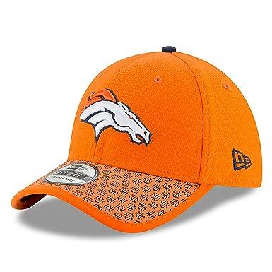 big sale 95019 3905b New Era Men s Denver Broncos 2017 Official NFL Sideline 3930 Cap Orange Navy  Size Small