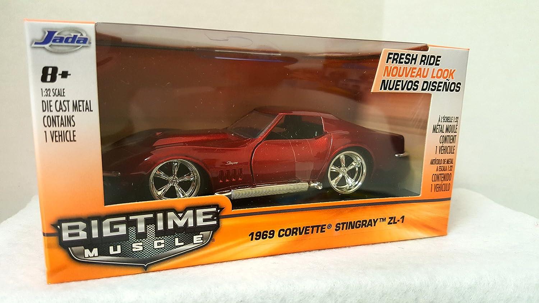 JADA 1//32 Scale Red 1969 Corvette StingRay ZL-1 Vehicle Car Model Toy