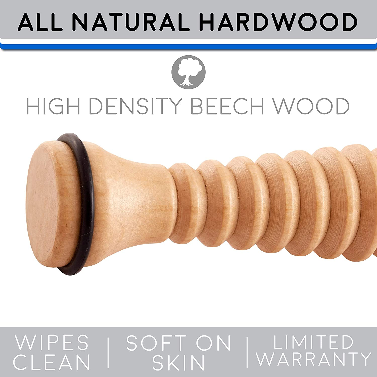 0efa9b8d6f Body Back Company's Wooden Foot Roller Natural Pain Relief ideal for Plantar  Fasciitis, Heel Spurs larger image