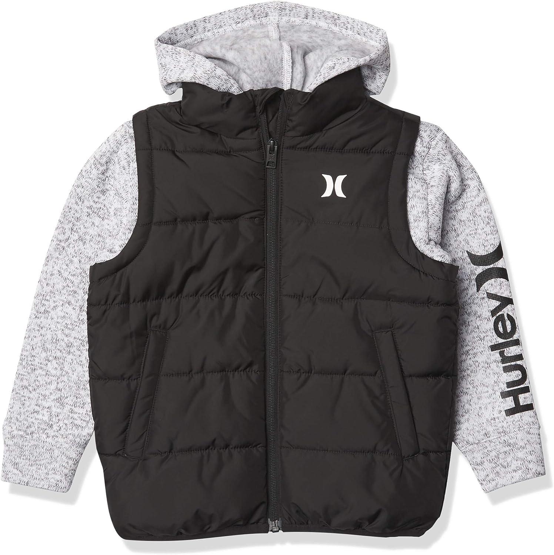 Hurley boys 2fer Puffer Jacket: Clothing