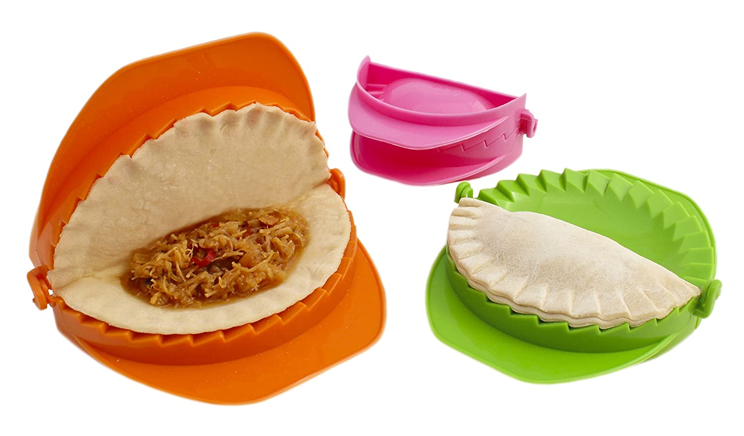 Zoie + Chloe 3-Piece Dough Press Set - Dumpling Calzone Ravioli Empanada Turnover Pierogi