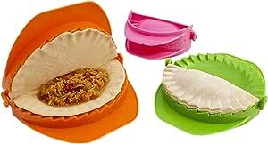 Zoie + Chloe 3-Piece Dough Press Set: Perfect for Dumpling, Calzone, Ravioli, Empanada, Turnover & Pierogi