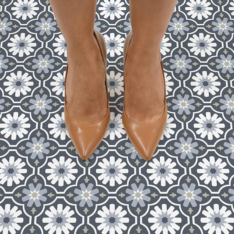 Grey FloorPops FP2944 Sevilla Peel /& Stick Floor Tiles