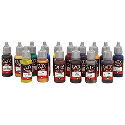 Vallejo Game Color Advanced Acrylic Paint Set - Assorted Colours (Pack of 16): Office Products