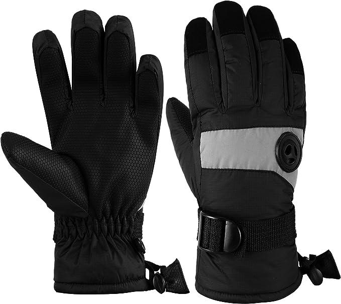 HighLoong Kids Waterproof Ski Snowboard Gloves