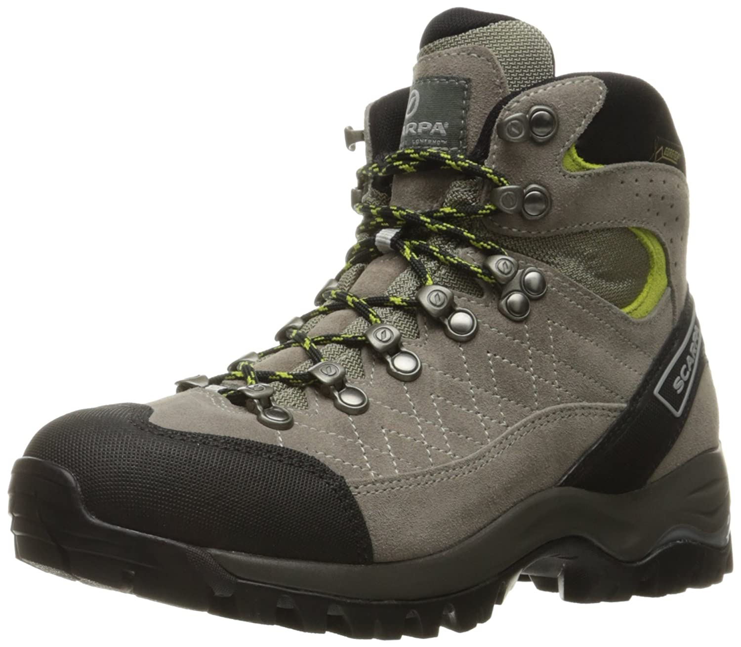SCARPA Women's Kailash Gore-TEX Hiking Boot B00LM6O3EU 40.5 EU/8 2/3 M US|Taupe/Acid