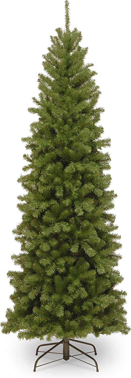 National Tree Company Artificial Christmas Tree | Includes Stand | North Valley Spruce Pencil Slim - 6 ft