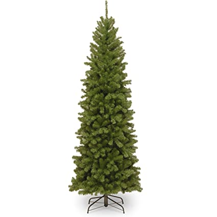 national tree 6 foot north valley spruce pencil slim - Amazon Christmas Tree Stand