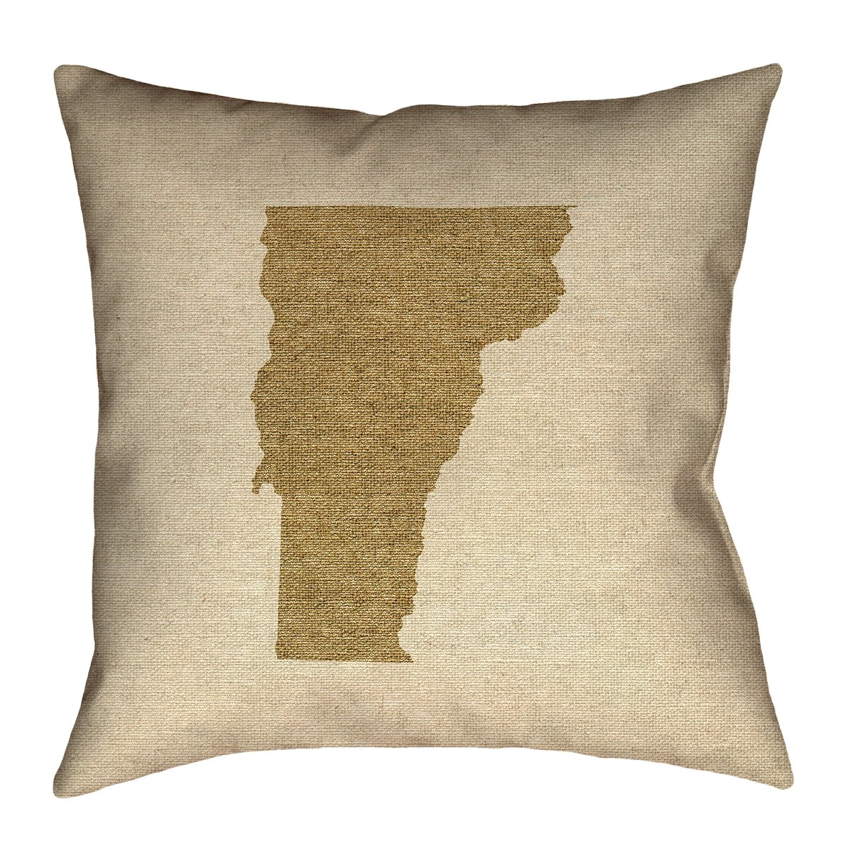 ArtVerse Katelyn Smith Vermont Canvas 14' x 14' Pillow-Faux Linen (Updated Fabric) Double Sided Print with Concealed Zipper & Insert
