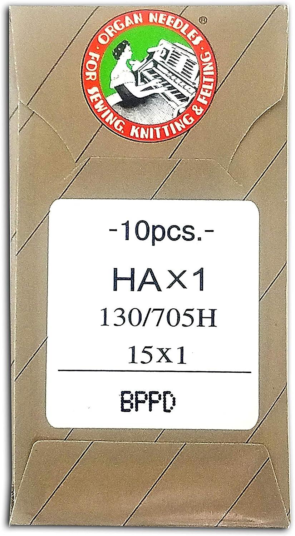 50 90//14 SHARP ORGAN TITANIUM FLAT SHANK 15X1 HAX1 HOME SEWING MACHINE NEEDLES