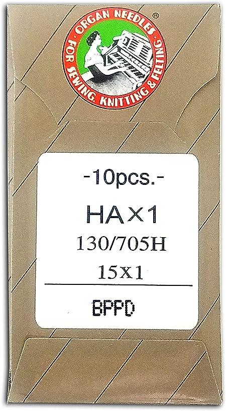 Size 75//11BP 50 ORGAN Ball Point Flat Shank 15X1 HAX1 Home Sewing Machine Needles