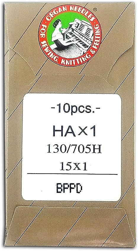10 80//12 SHARP ORGAN TITANIUM FLAT SHANK 15X1 HAX1 HOME SEWING MACHINE NEEDLES