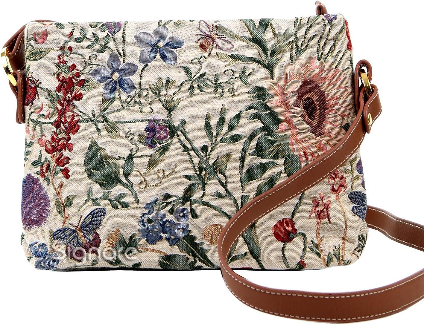 Signare Bolso tapiz de hombro de moda mujer bolso de mano en bandolera bolso messenger Floral