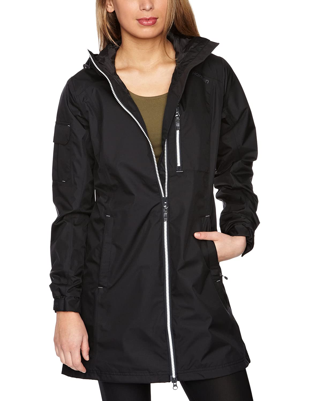 990 Black Helly Hansen Women's Long Belfast Jacket