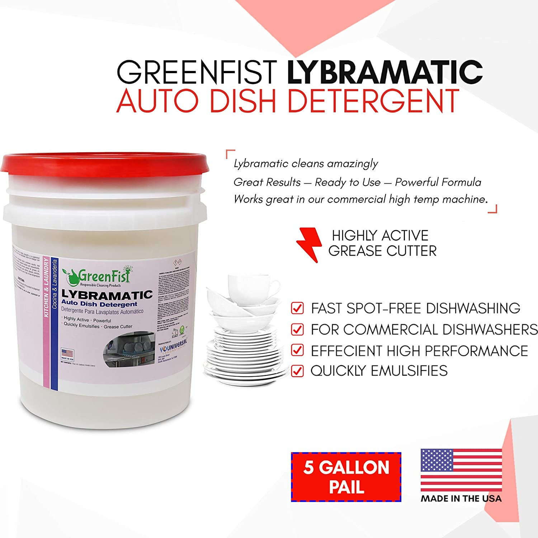 GreenFist Lavavajillas grado industrial detergente líquido [lista ...