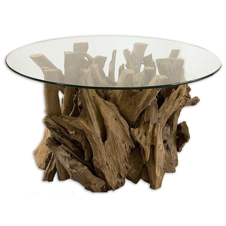 Stupendous Amazon Com 36 Kalea Nature Inspired Teak Driftwood Clear Uwap Interior Chair Design Uwaporg