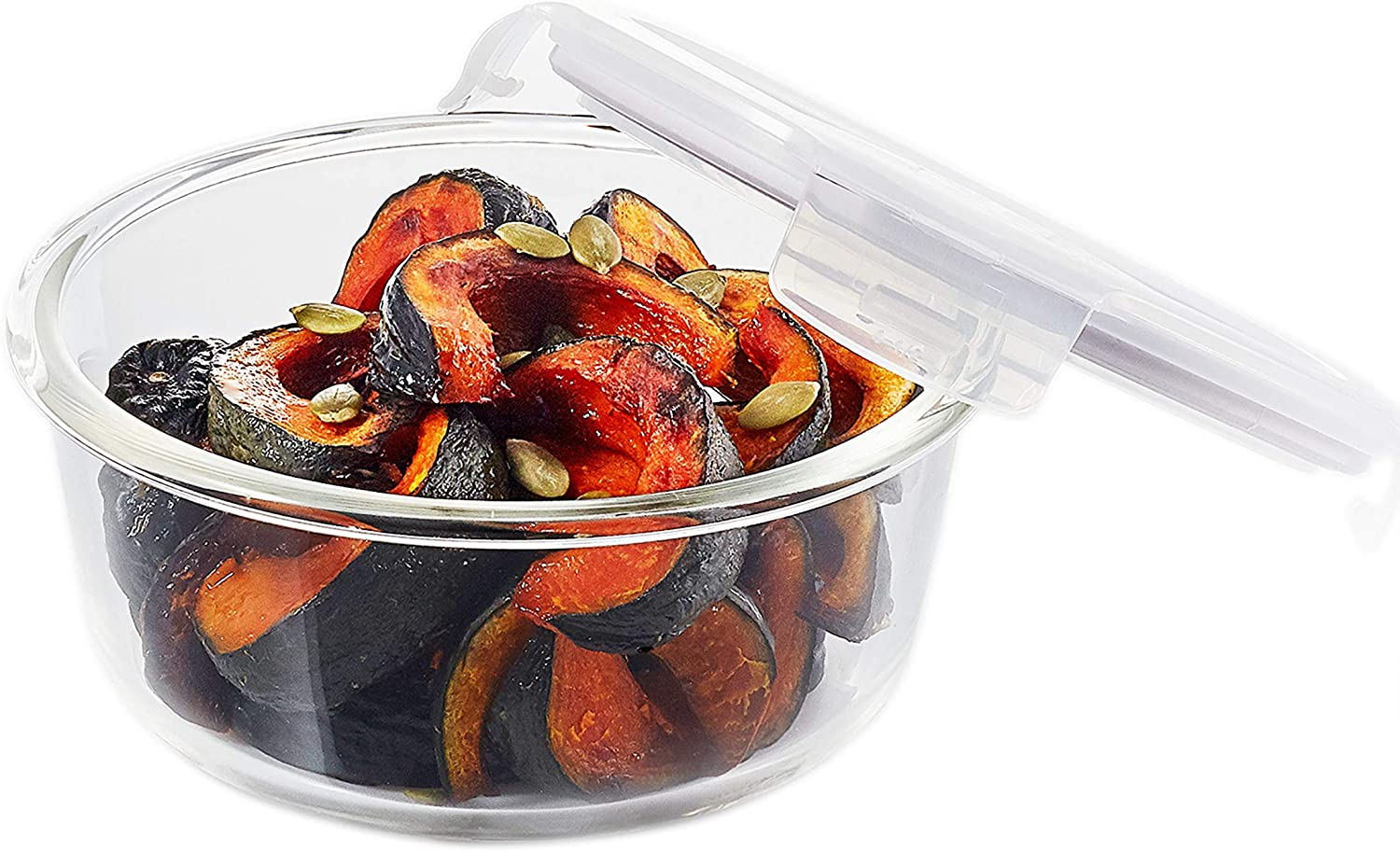 LOCK & LOCK Purely Better Glass Food Storage Container with Lid, Clear