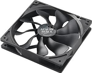 Akasa APACHE S-Flow Fan Blade PWM 140mm Case Fan - Black
