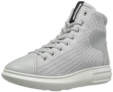 Ecco Soft 3 High Top Womens Concrete/Concrete E678926VS Shoes