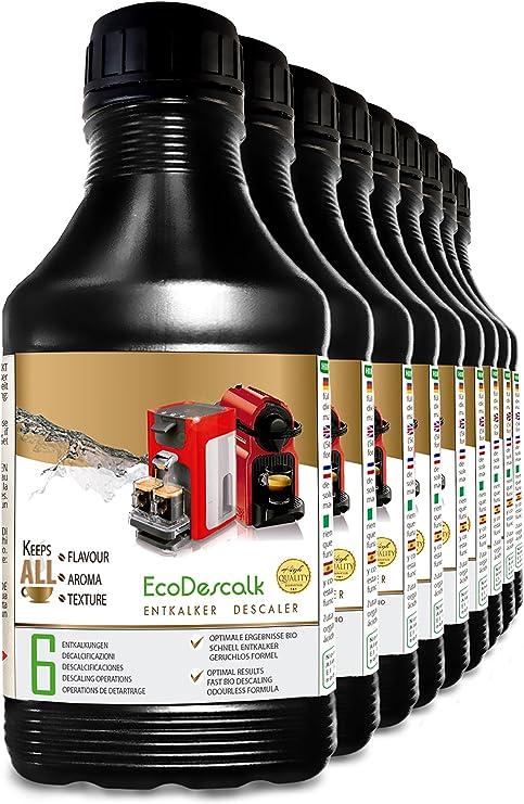 EcoDescalk, 9 x 500 ml. Descalcificador para todas las cafeteras ...