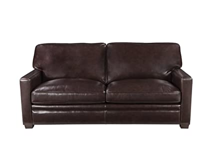 Amazon.com: The Ozark Leather Sleeper Sofa, Queen Mattress ...