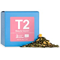 T2 Tea Organic Beauty Queen Loose Leaf Green Tea in Gift Cube 50 g, 1 x 50 g