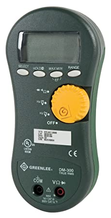 Greenlee DM-300 TRMS Digital Multimeter, 1000-Volt RMS