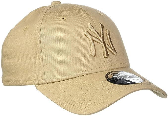 fc4791554eb New Era 39THIRTY New York Yankees Baseball Cap - MLB League Essential -  Camel Medium Large  Amazon.co.uk  Clothing