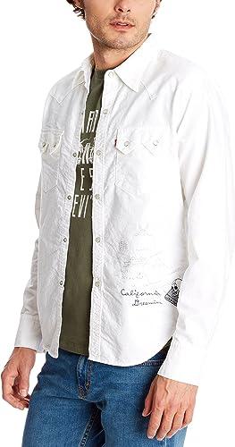 Levis Strauss Camisa Hombre Blanco S: Amazon.es: Ropa y accesorios