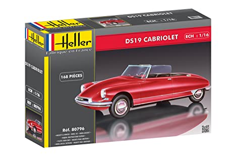 Amazon.com: Heller 80796 Model Kit Citroen DS 19 Cabriolet ...