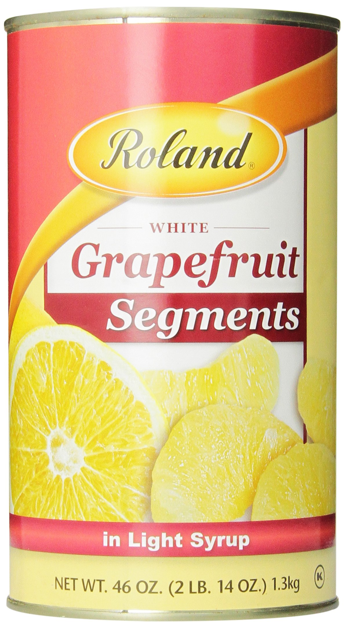 Roland Grapefruit, Segments in Light Syrup, 46 Ounce (Pack of 4)