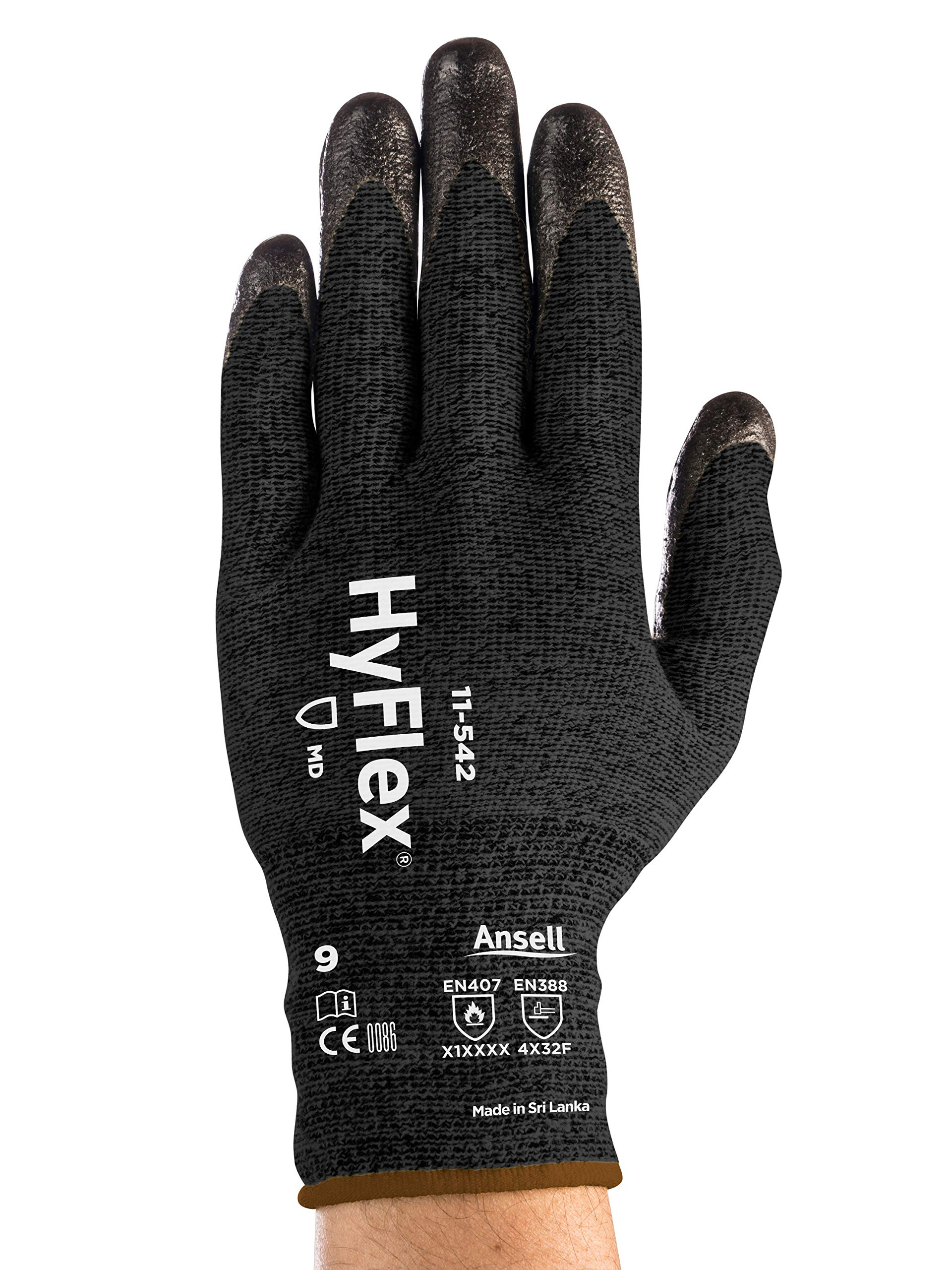 HyFlex 11-542 Cut Protection Gloves - Light, High Cut Protection, Grip, Size X Large (Pack of 12) by Ansell (Image #6)