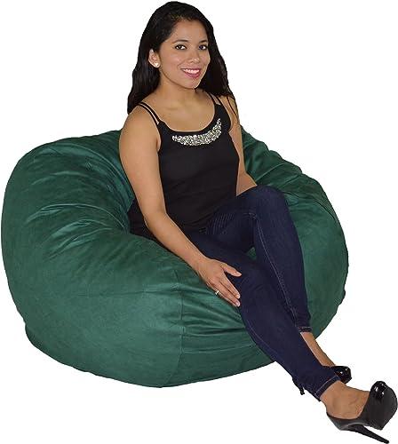 Reviewed: Cozy Sack Bean Bag Chair: Large 4 Foot Foam Filled Bean Bag Large Bean Bag Chair