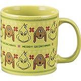 Vandor 17361 Dr. Seuss The Grinch Ugly Sweater 20 Ounce Ceramic Mug, Green