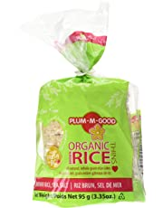 Plum-M-Good Organic Brown Rice Cakes Thins Salted 95 Gram (Pack of 12)