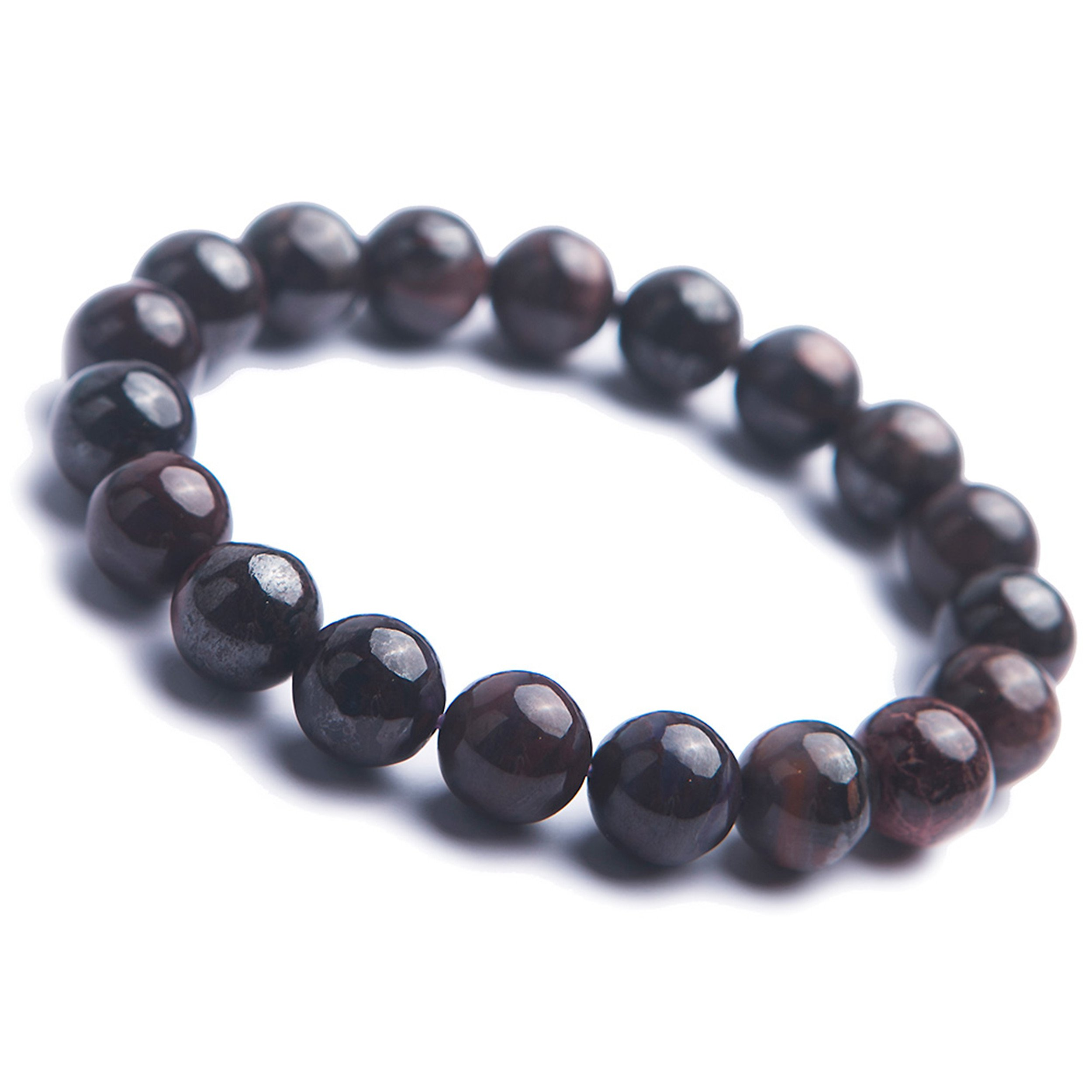 LiZiFang 10.5mm Natural Sugilite Gemstone Crystal Stretch Round Bead Woman Bracelet