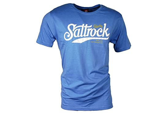 Mode abholen exquisiter Stil Saltrock Surfstyle Herren T-Shirt blau mit Logodruck - Rise ...