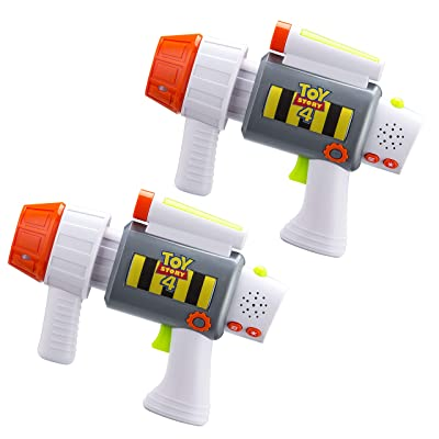 eKids Toy Story 4 Laser-Tag for Kids Infared Lazer-Tag Blasters Lights Up & Vibrates When Hit: Toys & Games