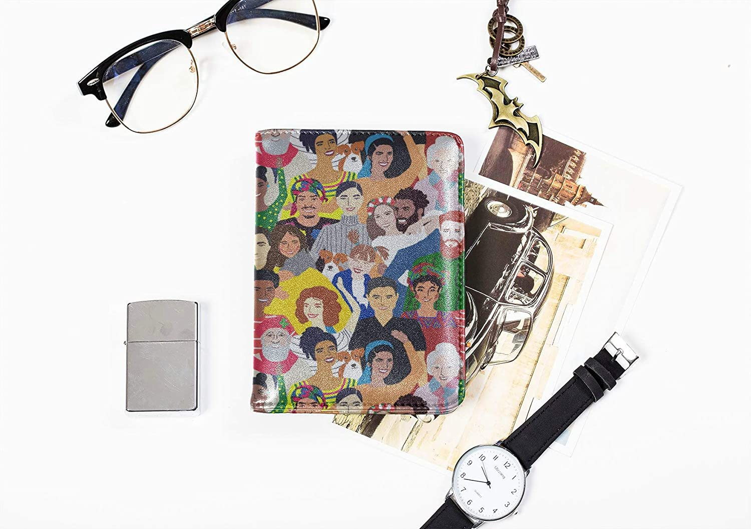 Passport Cover Large Cute Fasghion Character Painting Personalized Passport Cover Multi Purpose Print Women Passport Cover Travel Wallets For Unisex 5.51x4.37 Inch
