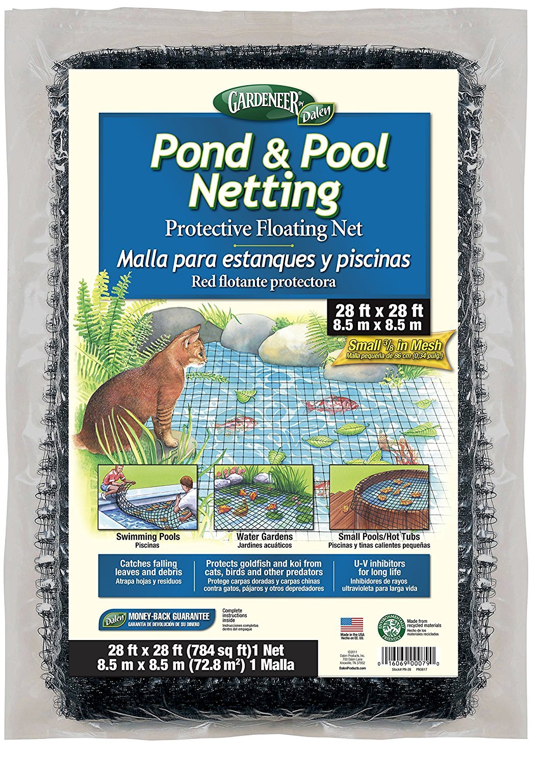 Gardeneer By Dalen Pond & Pool Netting Protective Floating Net 28' x 28' (3 pack) by Dalen