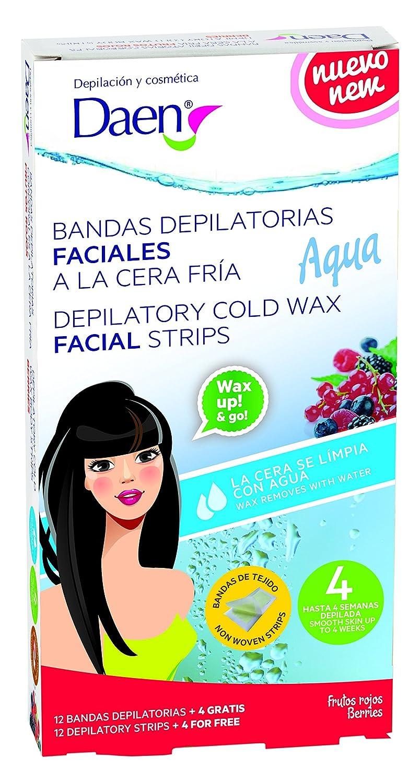 Daen - bandas depilatorias faciales cera fría frutos rojos - aqua. 100527