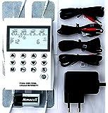 TENS apparat 4 kanal EMS apparat 220 volt irritationsström apparat 50 program muskelstimulator smärtterapi elektroterapi…