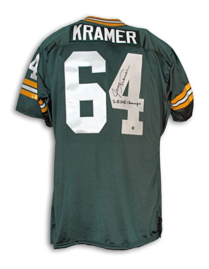Image Unavailable. Image not available for. Color  Jerry Kramer Green Bay  Packers Autographed Green Throwback Jersey Inscribed  quot SB I+II 5241e7452