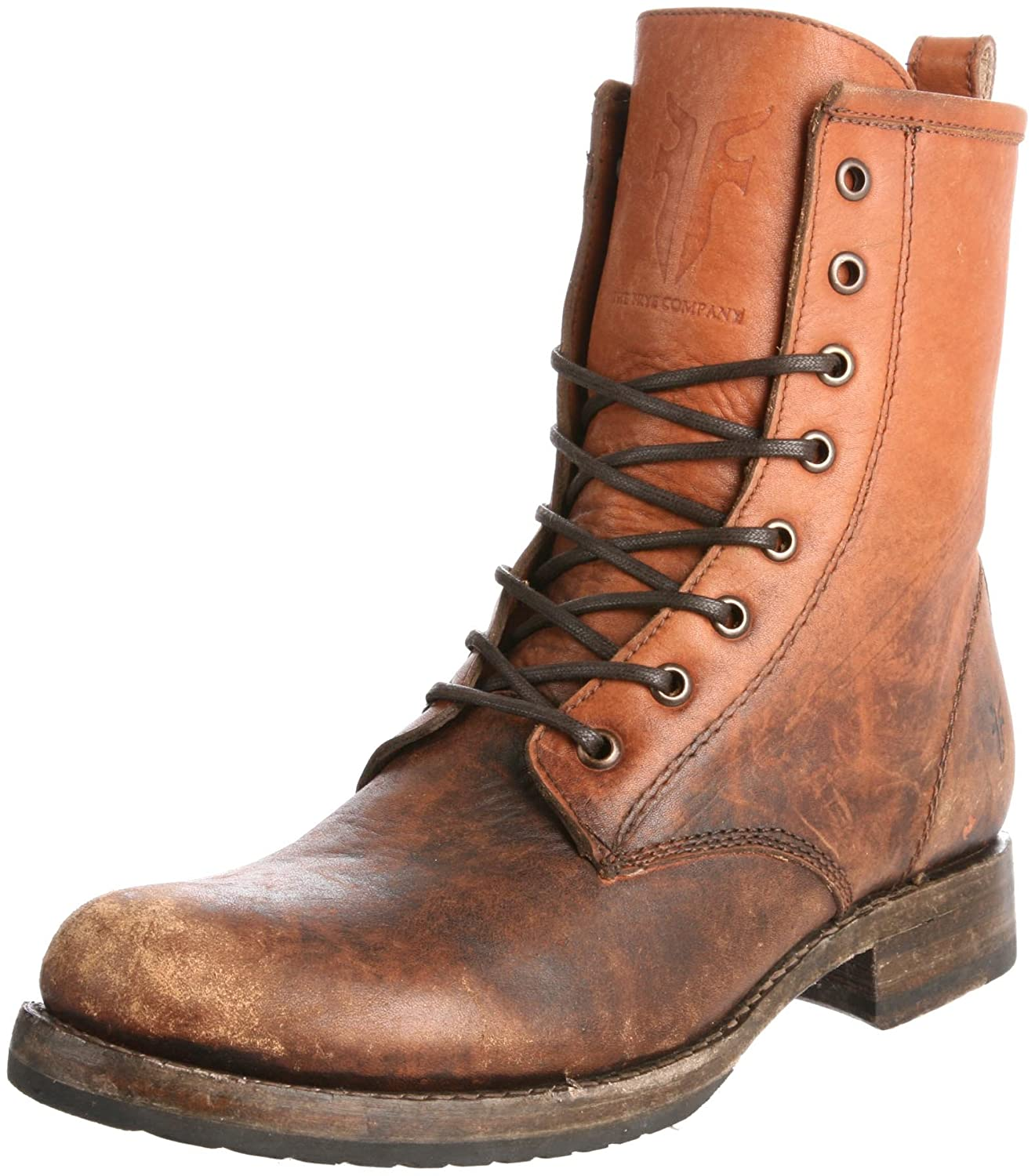 FRYE Women's Veronica Combat Boot B004OUVG82 5.5 B(M) US|Cognac Stone Washed-76272