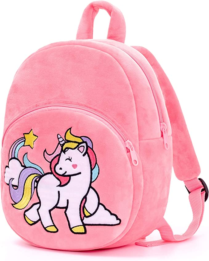 Lazada Unicorn Toddler backpack Girls backpack Plush Bag with toy Pink 11 Inches 3 Plus